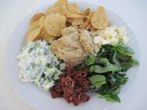 Hummus with accompaniments