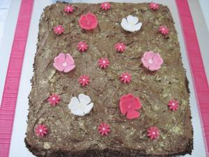 Pretty in Pink and Gold birthday cake
